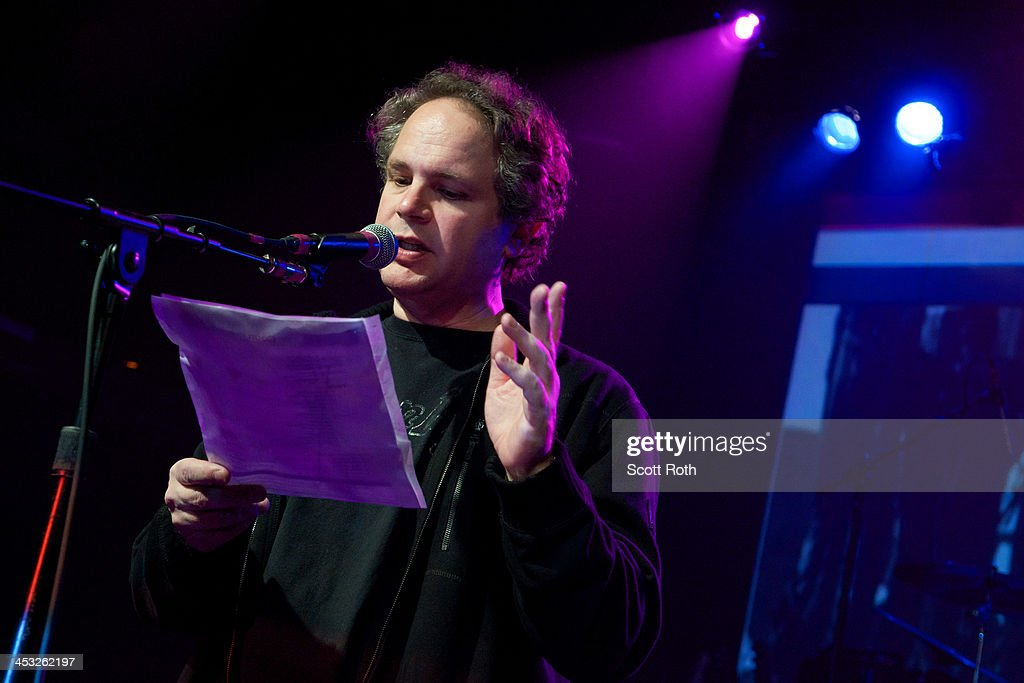 <a gi-track='captionPersonalityLinkClicked' href=/galleries/search?phrase=Eddie+Trunk&family=editorial&specificpeople=2165655 ng-click='$event.stopPropagation()'>Eddie Trunk</a> addresses the crowd at Wall Street Rocks 2013 Battle Of The Bands at Irving Plaza on December 2, 2013 in New York City.