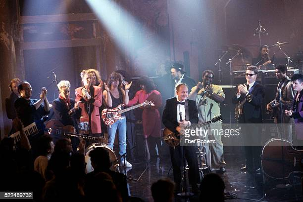 Eddie Van Halen Jan Hammer Brian Setzer Jim Phantom David Gilmour Jessie Colter Les Paul Waylon Jennings BB King Steve Miller Stanley Jordan and Lee...