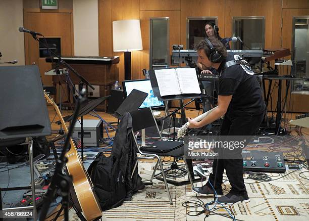 Eddie Vedder during rehearsals for The Who's 50th Anniversary Gig for The Teenage Cancer Trust at British Grove Studios on November 10 2014 in London...