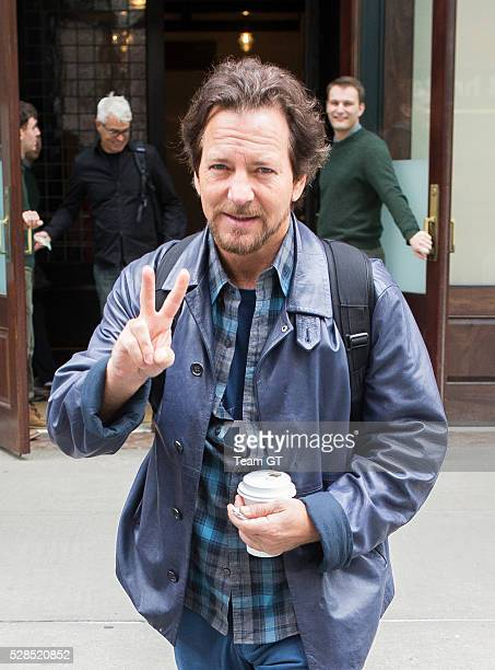 Eddie Vedder is seen leaving his New York hotel on May 5 2016 in New York City