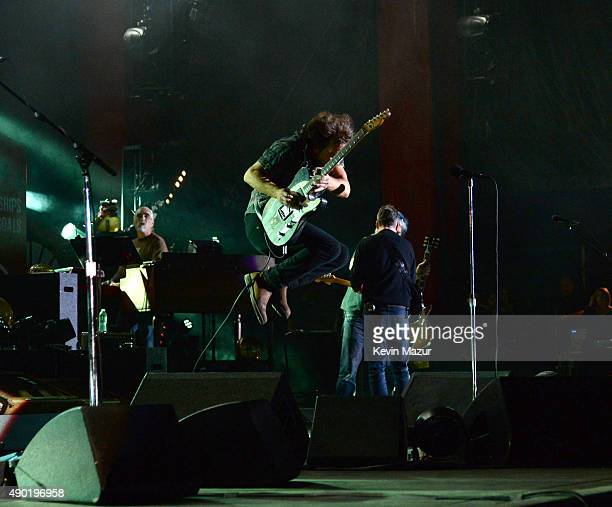 Eddie Vedder of Pearl Jam performs onstage during 2015 Global Citizen Festival to end extreme poverty by 2030 in Central Park on September 26 2015 in...