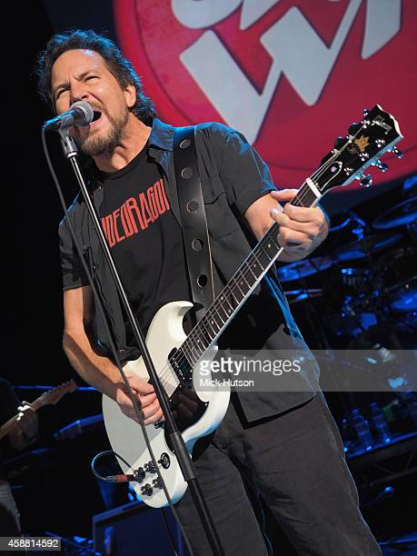 Eddie Vedder performs on stage as part of an evening of The Who music in aid of Teenage Cancer Trust at O2 Shepherd's Bush Empire on November 11 2014...