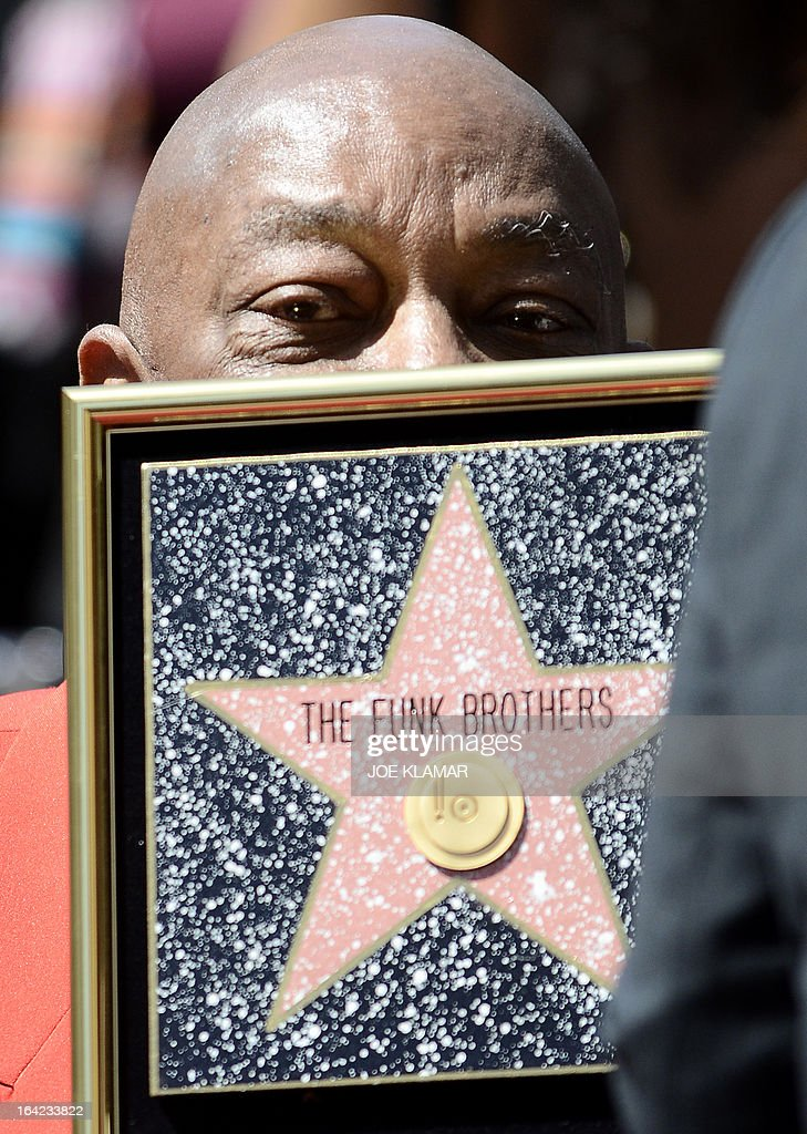 Eddie Willis, surviving member of the Funk Brothers, attends a ceremony honoring the musicians with a star on the Hollywood Walk of Fame on March 21, 2013 in Hollywood, California.The Funk Brothers was the nickname of Detroit, Michigan, session musicians who performed the backing to most Motown recordings from 1959 until the company moved to Los Angeles in 1972.