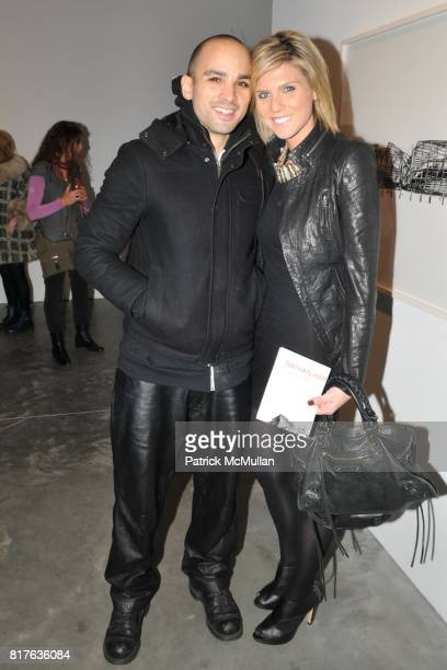 Eddy Bogaert and Alison Ross attend Artist's Reception with NATHAN HARGER at Hasted Kraeutler on December 9th 2010 in New York City