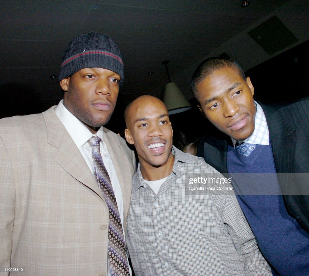 Eddy Curry, <a gi-track='captionPersonalityLinkClicked' href=/galleries/search?phrase=Stephon+Marbury&family=editorial&specificpeople=201496 ng-click='$event.stopPropagation()'>Stephon Marbury</a> and <a gi-track='captionPersonalityLinkClicked' href=/galleries/search?phrase=Jamal+Crawford&family=editorial&specificpeople=201851 ng-click='$event.stopPropagation()'>Jamal Crawford</a> during Party at Manor for <a gi-track='captionPersonalityLinkClicked' href=/galleries/search?phrase=Stephon+Marbury&family=editorial&specificpeople=201496 ng-click='$event.stopPropagation()'>Stephon Marbury</a> and Steve Francis of the New York Knicks - February 23, 2007 at Manor in New York City, New York, United States.