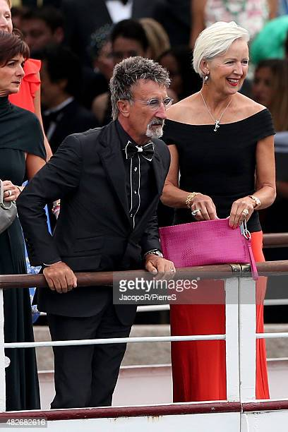 Eddy Jordan leave Stresa to attend the wedding party of Pierre Casiraghi and Beatrice Borromeo on August 1 2015 in Stresa Italy