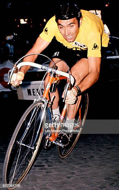 Eddy Merckx in the time trial stage for the 1974 Tour de France