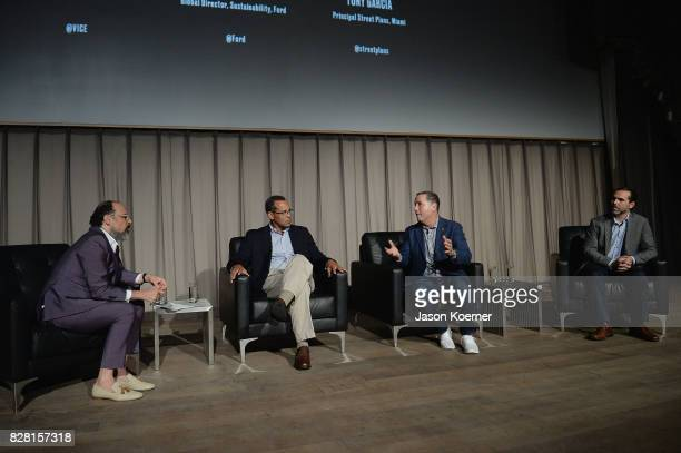 Eddy Moretti Chief Creative Officer at Vice John Viera Director of Sustainability at Ford Philip Levine Mayor of Miami Beach and Tony Garcia...