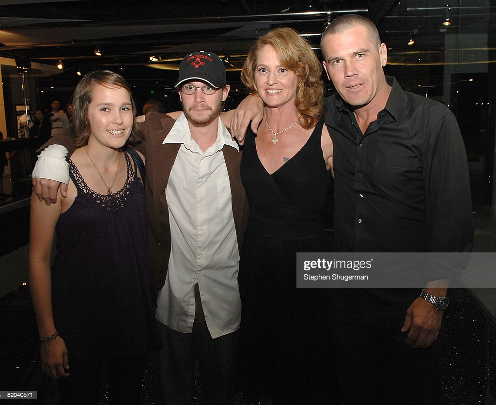 Eden Brolin, Trevor Brolin, actor Melissa Leo and actor Josh Brolin attend the after party following the premiere of Sony Pictures Classics' 'Frozen River' at the Pacific Design Center on July 22, 2008 in West Hollywood, California.