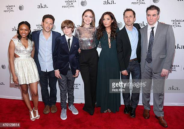 Eden DuncanSmith Mark Feuerstein Ty Simpkins Olivia Wilde director Reed Morano Giovanni Ribisi and Kevin Corrigan attend the premiere of 'Meadowland'...