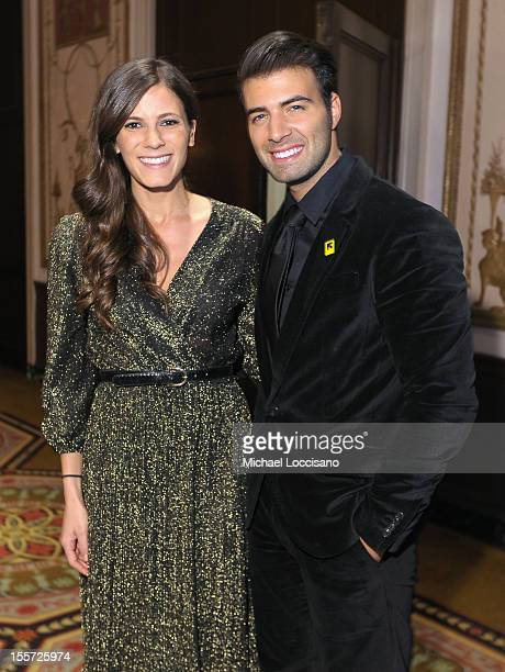 Eden Grinshpan and Jencarlos Canela attend the Annual Freedom Award benefit hosted by the International Rescue Committee at The Waldorf=Astoria on...