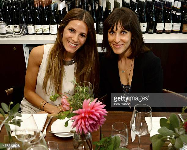 Eden Grinshpan and Tascha Rudder attend ELLE Clarins Athena Calderone Lauren Bush Lauren Host Intimate Lunch In Support Of The FEED Supper Initiative...
