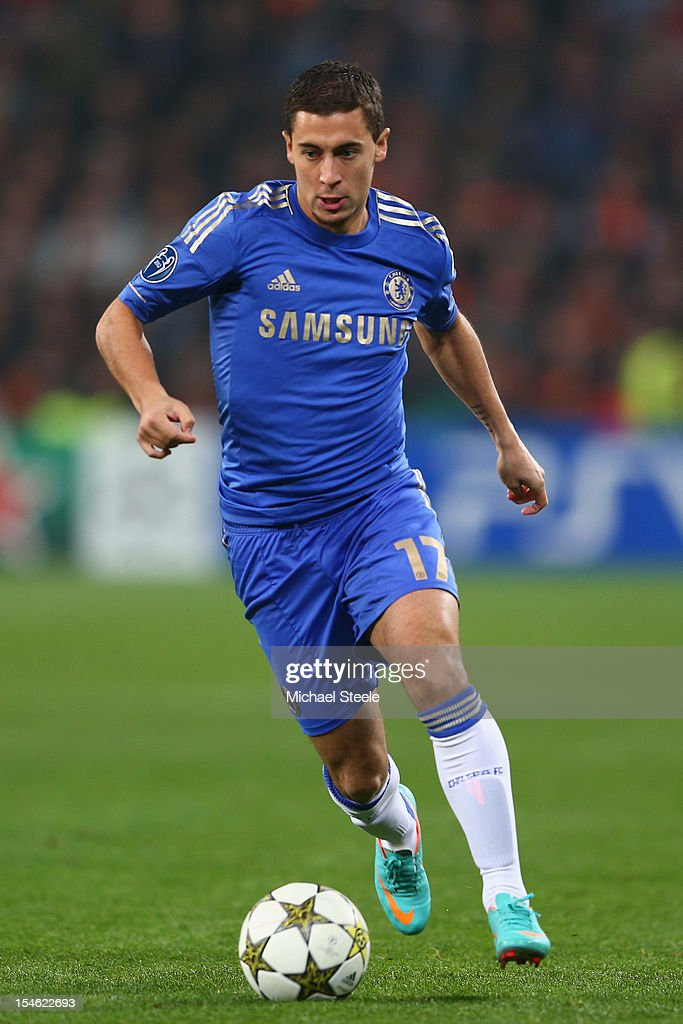 Eden Hazad of Chelsea during the UEFA Champions League Group E match between Shakhtar Donetsk and Chelsea at the Donbass Arena on October 23, 2012 in Donetsk, Ukraine.