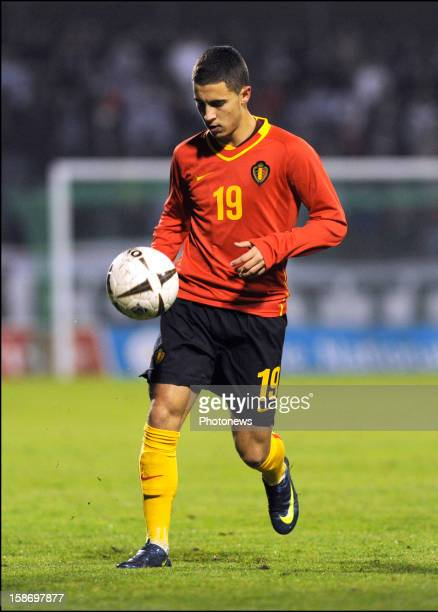 Eden Hazard of Belgium controls the ball during the international match between Belgium and Luxembourg at Stade Josy Barthel on November 19 2008 in...