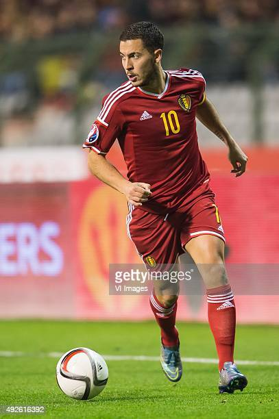 Eden Hazard of Belgium during the UEFA EURO 2016 group B qualifying match between Belgium and Israel on October 13 2015 at the Koning Boudewijn...