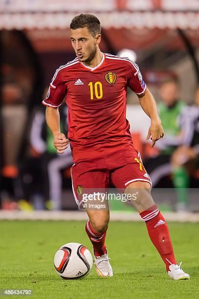 Eden Hazard of Belgium during the UEFA Euro 2016 qualifying match between Belgium and Bosnia and Herzegovina on September 3 2015 at the Koning...