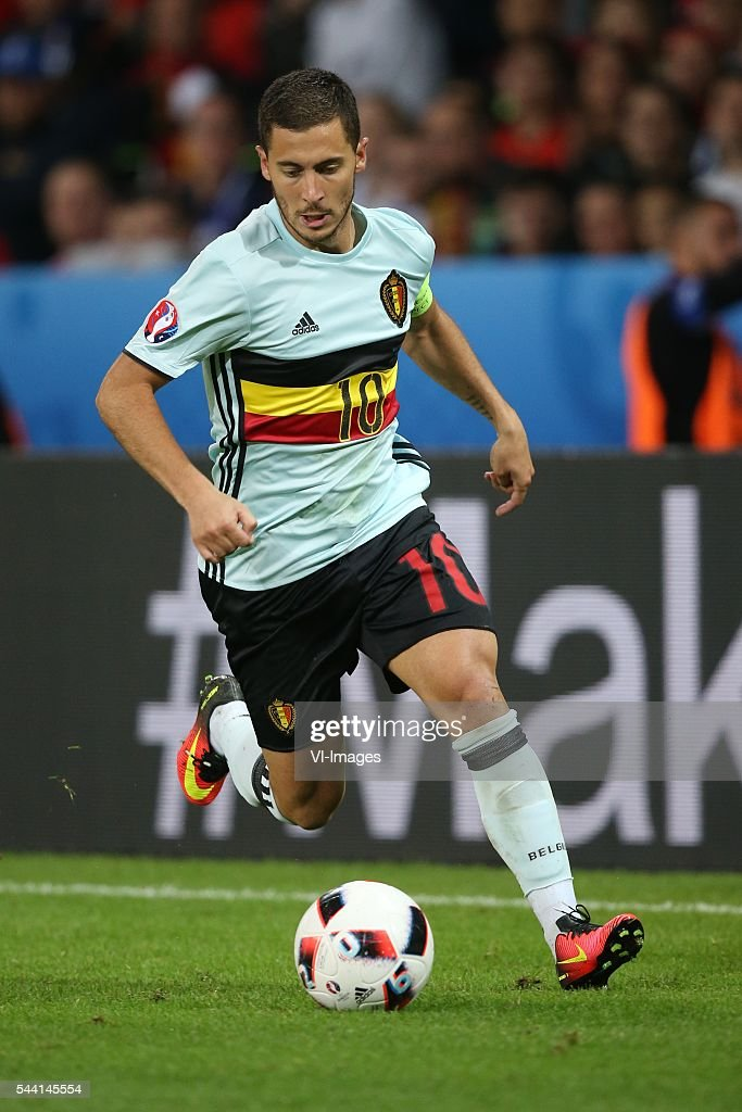 Eden Hazard of Belgium during the UEFA EURO 2016 quarter final match between Wales and Belgium on July 2, 2016 at the Stade Pierre Mauroy in Lille, France.