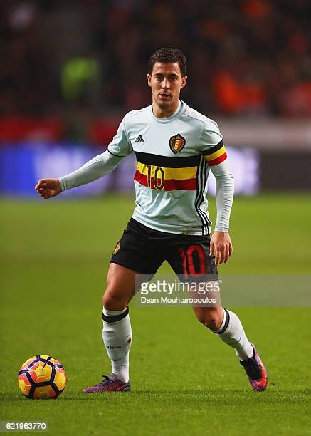 Eden Hazard of Belgium in action during the international friendly match between Netherlands and Belgium at Amsterdam Arena on November 9 2016 in...