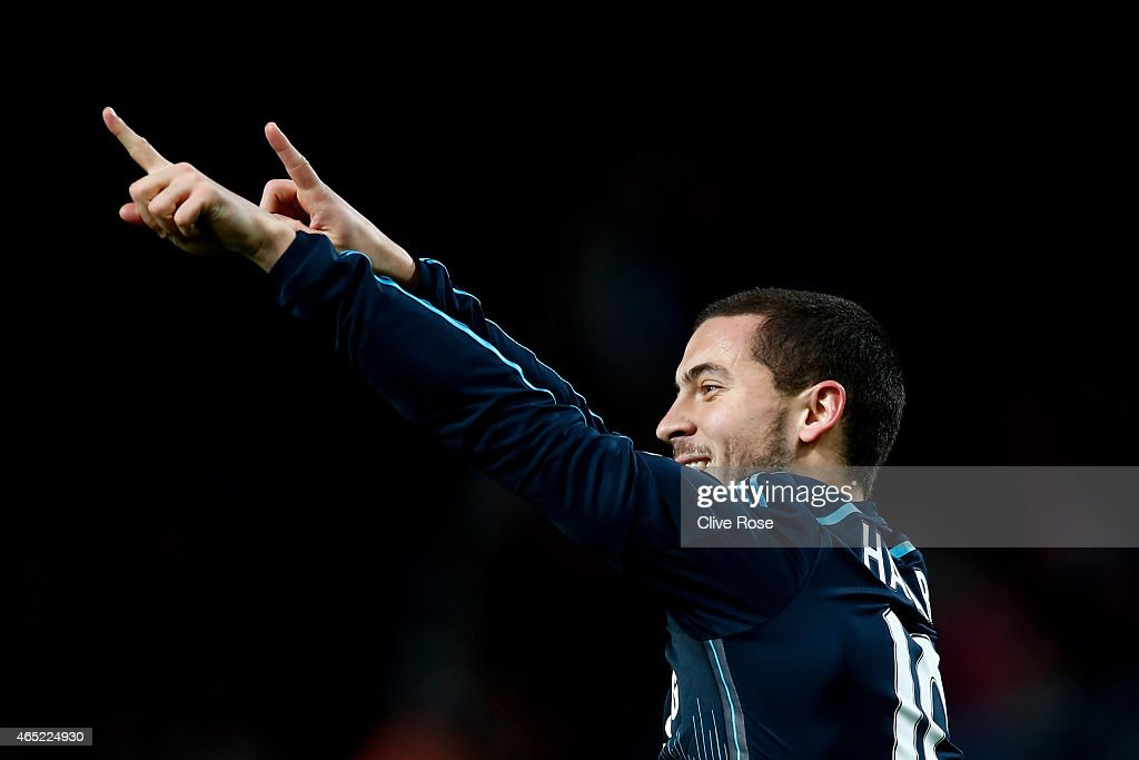 <a gi-track='captionPersonalityLinkClicked' href=/galleries/search?phrase=Eden+Hazard&family=editorial&specificpeople=5539543 ng-click='$event.stopPropagation()'>Eden Hazard</a> of Chelsea celebrates after scoring the opening goal during the Barclays Premier League match between West Ham and Chelsea at the Boleyn Ground on March 4, 2015 in London, England.