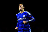 Eden Hazard of Chelsea celerates after scoring his team's sixth goal during the UEFA Champions League Group G match between Chelsea FC and NK Maribor...