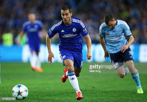 Eden Hazard of Chelsea controls the ball during the international friendly match between Sydney FC and Chelsea FC at ANZ Stadium on June 2 2015 in...