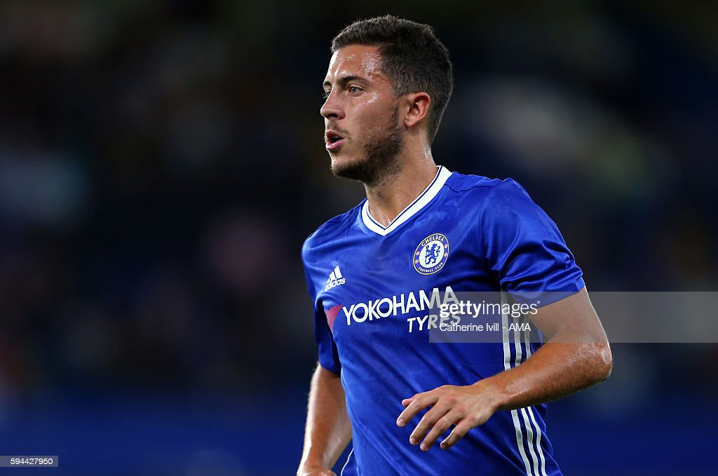 Eden Hazard of Chelsea during the EFL Cup match between Chelsea and Bristol Rovers at Stamford Bridge on August 23, 2016 in London, England.