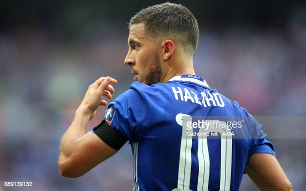 Eden Hazard of Chelsea during the Emirates FA Cup Final match between Arsenal and Chelsea at Wembley Stadium on May 27 2017 in London England