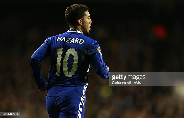 Eden Hazard of Chelsea during the Premier League match between Tottenham Hotspur and Chelsea at White Hart Lane on January 4 2017 in London England