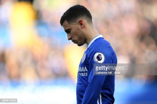 Eden Hazard of Chelsea during the Premier League match between Chelsea and Arsenal at Stamford Bridge on February 4 2017 in London England