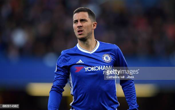 Eden Hazard of Chelsea during the Premier League match between Chelsea and Middlesbrough at Stamford Bridge on May 8 2017 in London England