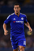 Eden Hazard of Chelsea in action during a Pre Season Friendly between Chelsea and Fiorentina at Stamford Bridge on August 5 2015 in London England