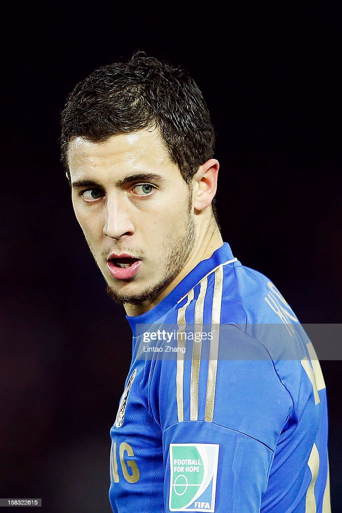 Eden Hazard of Chelsea looks on during the FIFA Club World Cup Semi Final match between CF Monterrey and Chelsea at International Stadium Yokohama on December 13, 2012 in Yokohama, Japan.