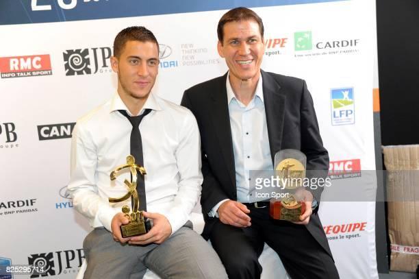 Eden HAZARD / Rudi GARCIA Meilleur Joueur et meilleur entraineur de Ligue 1 Trophee UNFP 2011