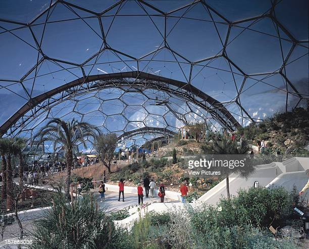 Eden Project St Austell United Kingdom Architect Grimshaw Eden Project Overall View In Smaller Dome