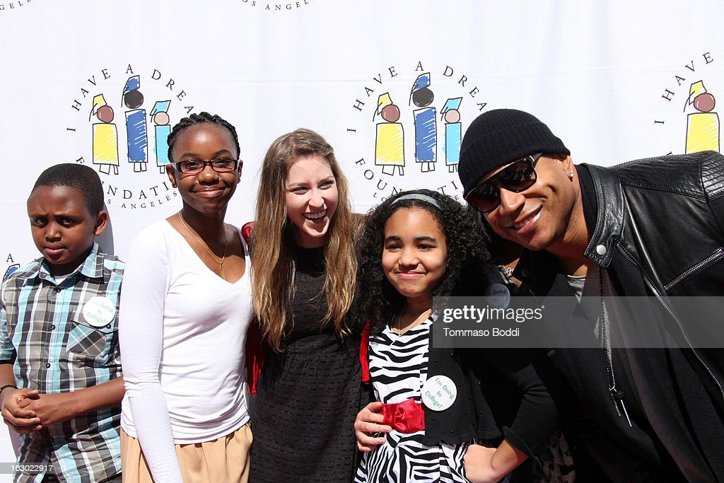 Eden Sher (L) and <a gi-track='captionPersonalityLinkClicked' href=/galleries/search?phrase=LL+Cool+J&family=editorial&specificpeople=201567 ng-click='$event.stopPropagation()'>LL Cool J</a> attend the 'I Have A Dream' Foundation's 15th annual Los Angeles dreamer brunch held at the Skirball Cultural Center on March 3, 2013 in Los Angeles, California.