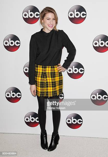 Eden Sher attends the Disney/ABC 2016 Winter TCA Tour at Langham Hotel on January 9 2016 in Pasadena California