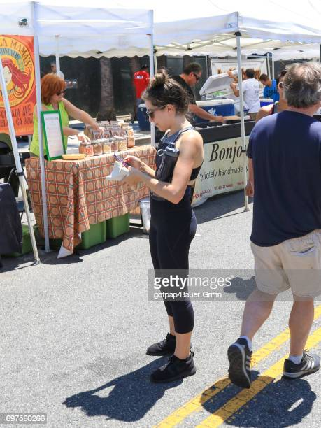 Eden Sher is seen on June 18 2017 in Los Angeles California