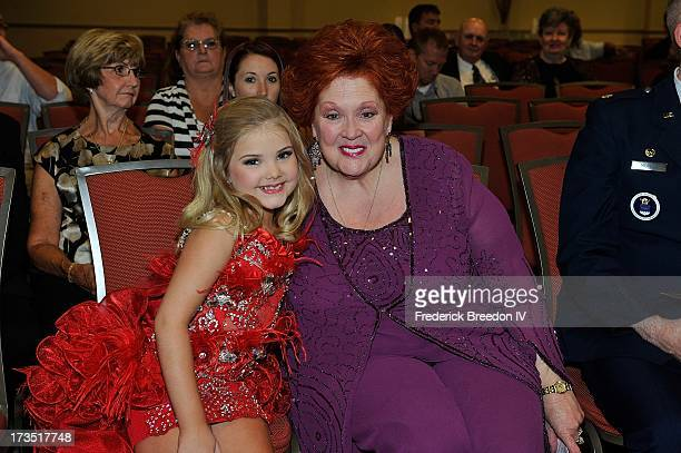 Eden Wood poses with Lu Lu Roman at the First Annual Youth Excellence Awards at Holiday Inn Nashville Opryland Airport on July 15 2013 in Nashville...
