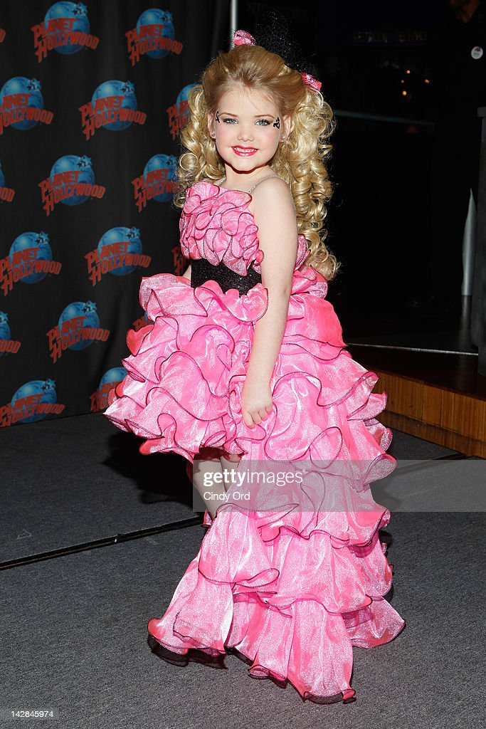 Eden Wood Promotes Her New Series 'Eden's World' At Planet Hollywood on April 13 2012 in New York City