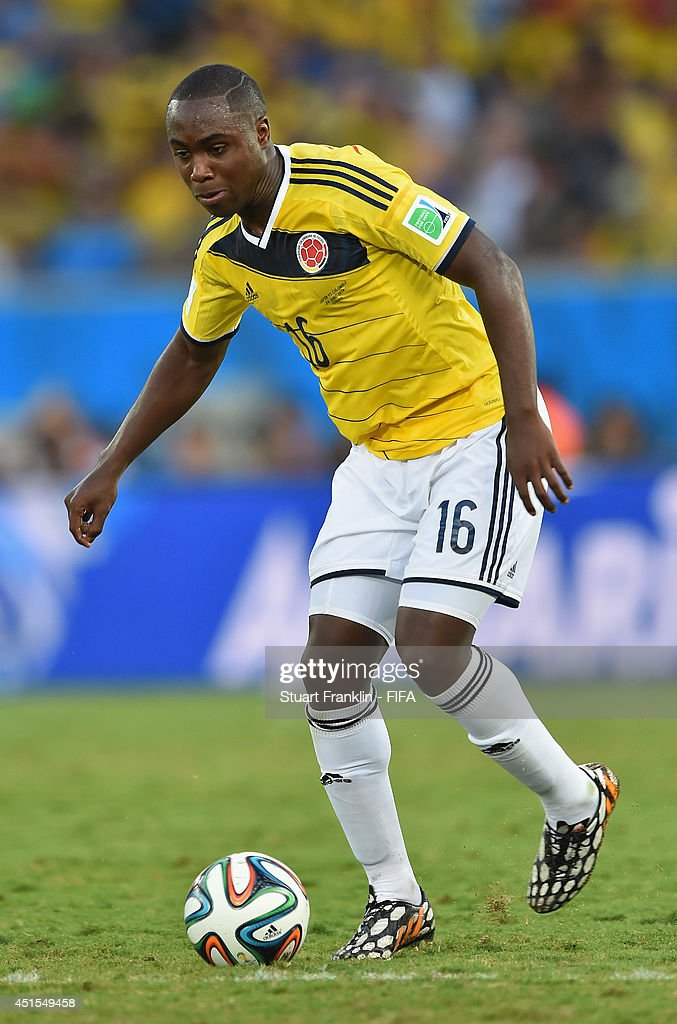 Eder Balanta of Colombia in action during the 2014 FIFA World Cup Brazil Group C match between Japan and Colombia at Arena Pantanal on June 24, 2014 in Cuiaba, Brazil.