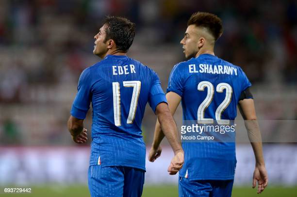 Eder Citadin Martins and Stephan El Shaarawy of Italy look on during the International friendly football match between Italy and Uruguay Italy wins...