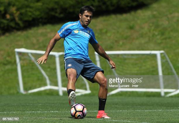 Eder Citadin Martins of FC Internazionale in action during the FC Internazionale training session at the club's training ground Suning Training...