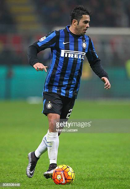 Eder Citadin Martins of FC Internazionale Milano in action during the Serie A match between AC Milan and FC Internazionale Milano at Stadio Giuseppe...