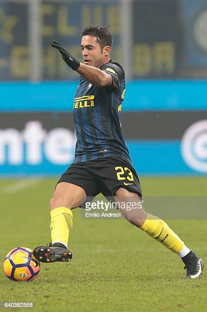 Eder Citadin Martins of FC Internazionale Milano in action during the Serie A match between FC Internazionale and Pescara Calcio at Stadio Giuseppe...