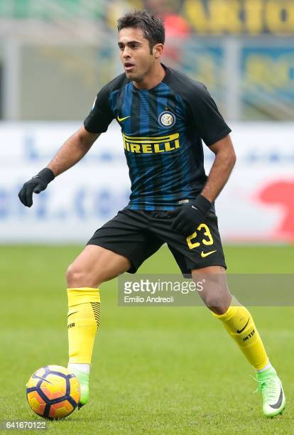 Eder Citadin Martins of FC Internazionale Milano in action during the Serie A match between FC Internazionale and Empoli FC at Stadio Giuseppe Meazza...