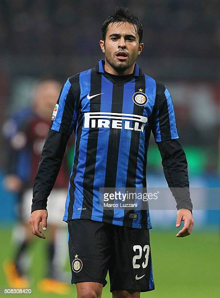 Eder Citadin Martins of FC Internazionale Milano looks on during the Serie A match between AC Milan and FC Internazionale Milano at Stadio Giuseppe...