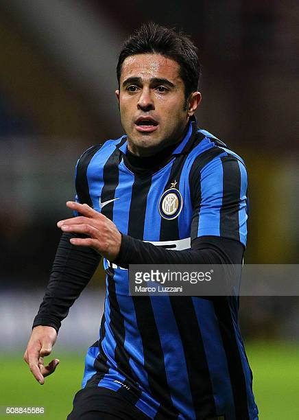 Eder Citadin Martins of FC Internazionale Milano looks on during the Serie A match between FC Internazionale Milano and AC Chievo Verona at Stadio...