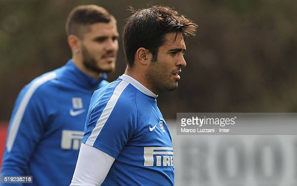 Eder Citadin Martins of FC Internazionale Milano looks on during the FC Internazionale training session at the club's training ground on April 5 2016...