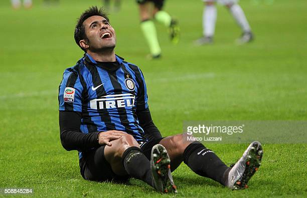 Eder Citadin Martins of FC Internazionale Milano reacts during the Serie A match between FC Internazionale Milano and AC Chievo Verona at Stadio...