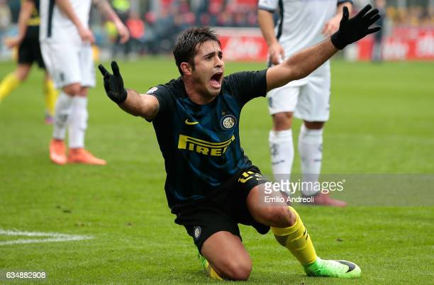 Eder Citadin Martins of FC Internazionale Milano reacts during the Serie A match between FC Internazionale and Empoli FC at Stadio Giuseppe Meazza on...